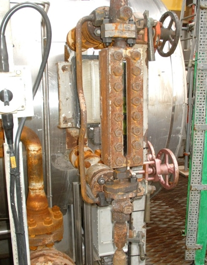 Existing glass gauge in poor condition